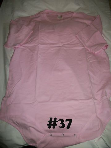 Pink Solid Color Onesie #37
