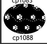 Pacifier cp1088 Black/White Paws