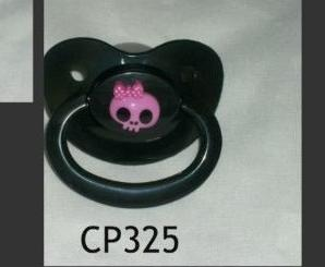Pacifier CP325 Purple small Skull