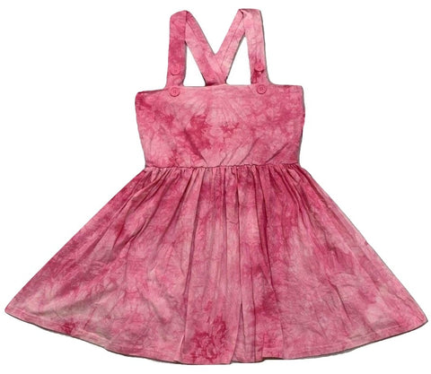 Suspender Tye Dye Pink Jumper Skirt Dress