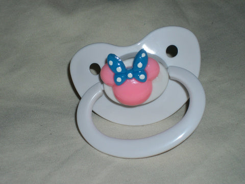 MOUSE pacifier CP213 PINK MOUSE