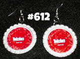 Hand made Bottle Cap Earrings Huge Variety Soda Fast Food Candy Snacks