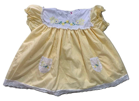 Vintage Lil Bird Embroidered Baby Doll Dress