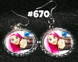 Hand made Boutique Earrings inspired Vampire Goth CARTOONS