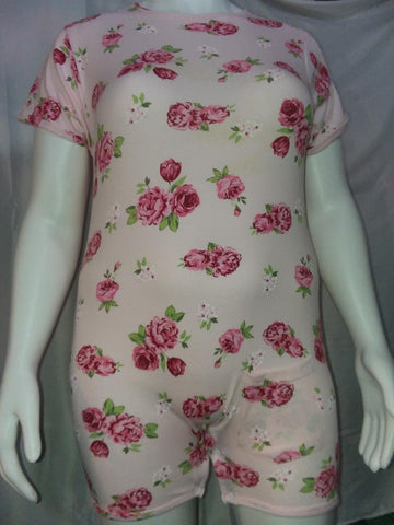 discontinued Squishyabdl cotton Pink Flower Romper - Limited Stocked (Special Size chart) Clearance