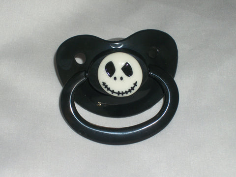 Skull Movie Pacifier JACK CP321 White