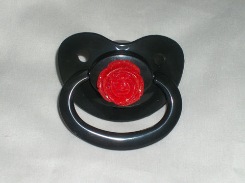 Flower red Rose Pacifier CP308