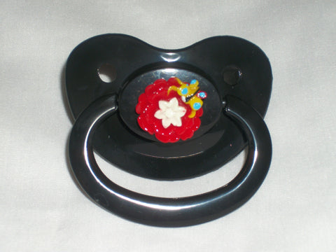 Flowers RED Pacifier CP307
