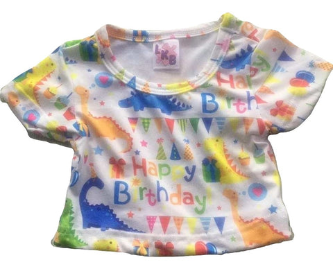 Happy Birthday Dinosaur Stuffy Matching Shirt