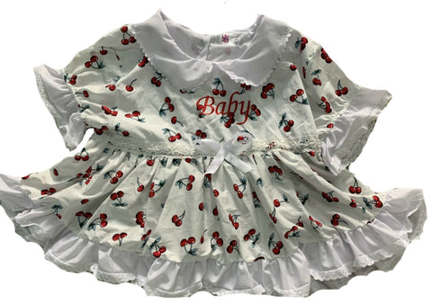 Embroidered Baby Cherry Dress