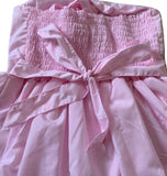 Plus Size Little Princess Embroidered Pink Smock Halter Summer Dress * Look at Measurements