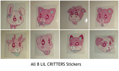 LIL CRITTERS VINYL STICKERS All 8 DESIGNED BY KOUHAI KITTEN