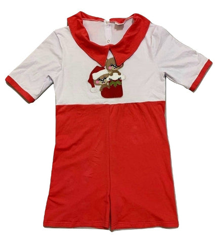 DISCONTINUED Lil Bears Christmas Holiday 1pc Romper Outfit Clearance