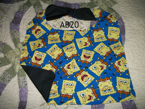 "2000's Cartoon Sponge Bib AB20 11""X16"" Clearance"