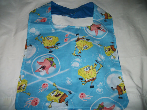 "2000's Cartoon Sponge Bib AB444 12""X13"""
