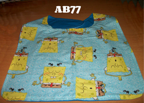 "2000's Cartoon Sponge Bib AB77 12""X15.5"" Clearance"