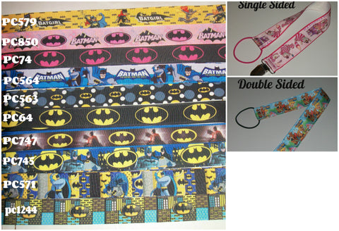 "Super Hero Bat Hand Crafted Pacifier Dummy Clip - 11""-12"""