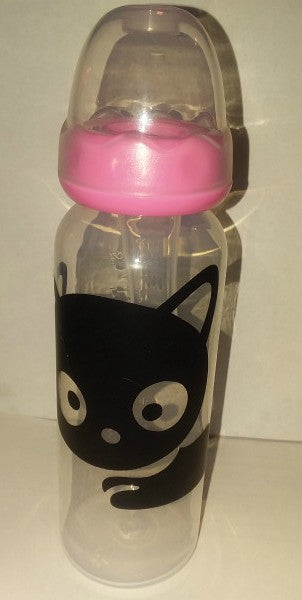 Kitty Black 9oz Baby Bottles with ADULT Teat BB128