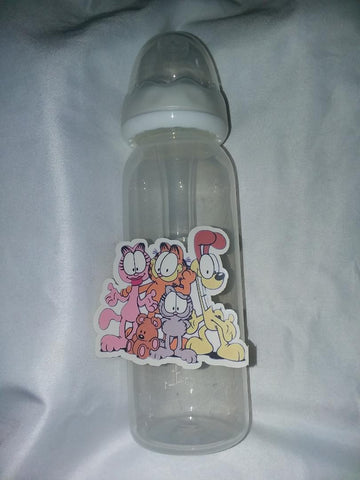 Kitty Orange 9oz Baby Bottle with ADULT Teat BB1529