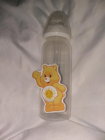 BEAR RAINBOW 9oz Baby Bottle with ADULT Teat BB1603