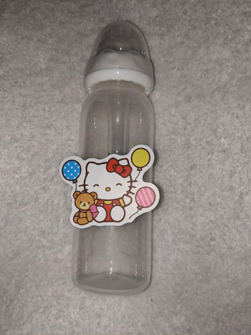Kitty Cat Cartoon 9OZ BABY BOTTLE WITH ADULT TEAT BB2400
