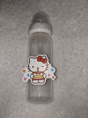Kitty Cat Cartoon 9OZ BABY BOTTLE WITH ADULT TEAT BB2402