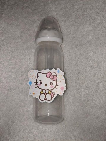 Kitty Cat Cartoon 9OZ BABY BOTTLE WITH ADULT TEAT BB2422