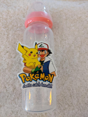 Poke Game 9oz Baby Bottle with ADULT Teat BB2482