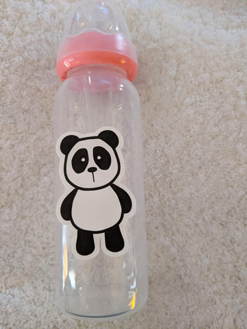 Panda Bear 9oz Baby Bottle with ADULT Teat BB2506