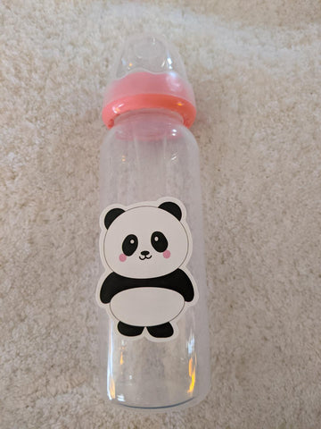 Panda Bear 9oz Baby Bottle with ADULT Teat BB2512