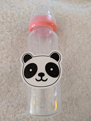 Panda Bear 9oz Baby Bottle with ADULT Teat BB2518