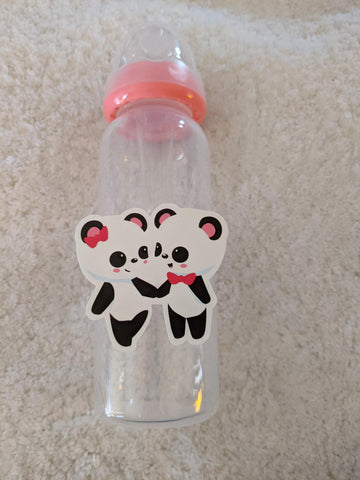 Panda Bear 9oz Baby Bottle with ADULT Teat BB2520