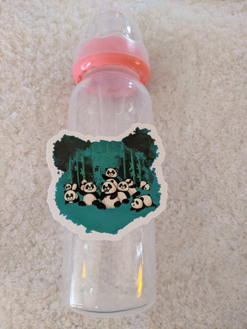 Panda Bear 9oz Baby Bottle with ADULT Teat BB2524