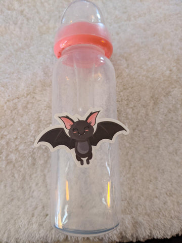 Spooky Bat halloween 9oz Baby Bottle with ADULT Teat BB2526