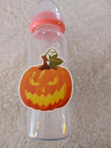 Spooky Bat halloween 9oz Baby Bottle with ADULT Teat BB2535