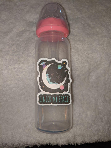 Aliens Need My Space 9oz Baby Bottle with ADULT Teat BB2553