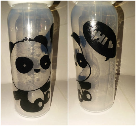 Panda Bear 9oz Baby Bottle with ADULT Teat BB261