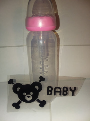 Bear 9oz Baby Bottle with ADULT Teat BB441
