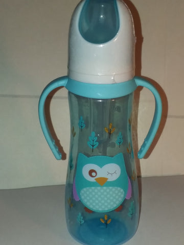 Owl Bottle with removable handles and silicone teat BB478