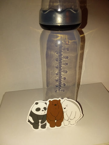 Bears 9oz Baby Bottle with ADULT Teat BB613