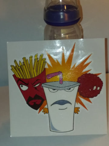 2000'S CARTOON Aqua Teen Hunger Force 9oz Baby Bottle with ADULT Teat BB744