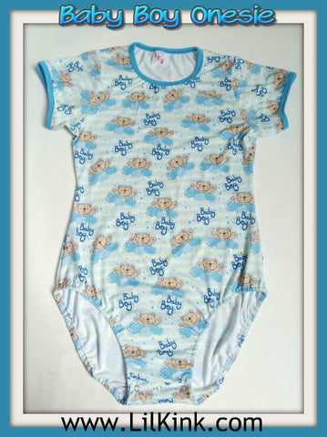 Short Sleeve Baby Boy Onesie Sizes xs-4x * New Size Chart *