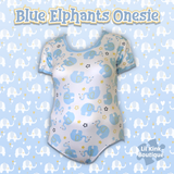 DISCONTINUED New Blue Elephant Onesie Clearance