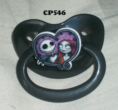 Skull Movie Pacifier JACK CP546 HEART