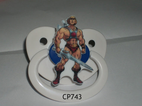 80'S Cartoon HE MAN pacifier CP743