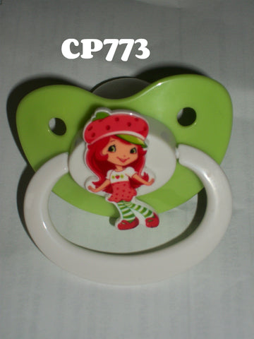 80'S CARTOON STRAWBERRY GIRL PACIFIER CP773