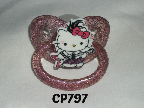Kitty Pacifier White HK CP797 ROCK STAR KITTY