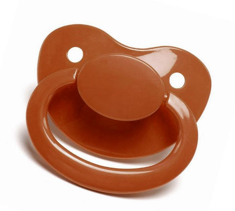 Coffee New Large Plain Color Adult Pacifier
