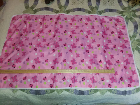 "Pink Butterflies Large 29"" x 45"" Changing Mat Pad Cpad100"