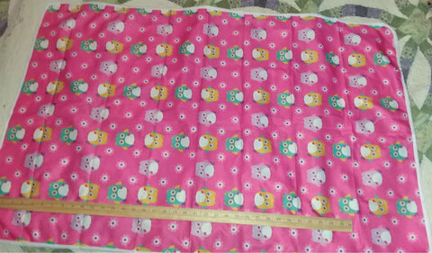 "Pink with Owls Large 29"" x 45"" Changing Mat/Pad Cpad102"